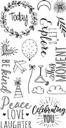 663632 - Sizzix Clear Stamps - Everyday Sentiments by Katelyn Lizardi